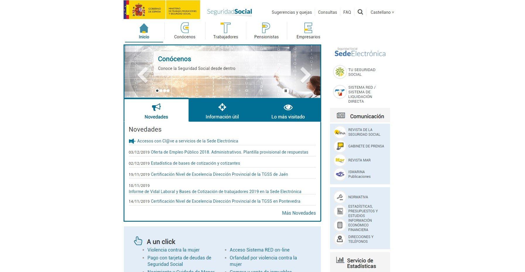 web seguridad social